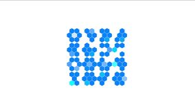 4k Hexagon chemical molecular,data information analysis geometry background. 4k Hexagon chemical molecular,data information analysis science technology geometry stock illustration