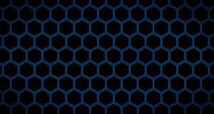 4k Hexagon Reeks van de Animatie van 3 Achtergrondpatroonvideo's in Blauwe Tonen Stock Foto