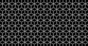 4k Hexagon Set of 3 Background Pattern Videos Animation in Black and White Alpha Channel.
