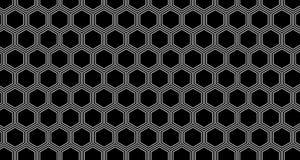 4k Hexagon Zwart-witte Animatie van het Achtergrondhoningraatpatroon Stock Foto