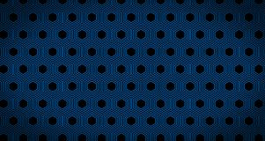 4k Hexagon Zwarte en het Blauw van de Achtergrondpatroonanimatie Stock Afbeeldingen