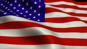 4K High Definition animation. USA American Flag. royalty free illustration