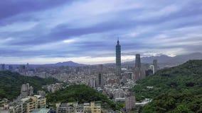 4k Hiper- upływ Taipei miasto używa trutnia w ranku zbiory wideo