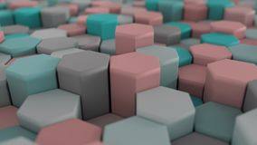 4K Honeycomb Kolorowa Abstrakcjonistyczna siatka zbiory wideo
