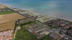 4K Hornsea有蓬卡车公园假日家空中英尺长度  影视素材