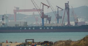 4k Huge oil tankers moored at the Container Terminal. Gh2_11001_4k stock video