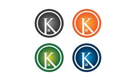 K-huslogo stock illustrationer