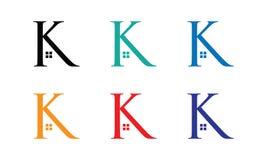 K-huslogo vektor illustrationer