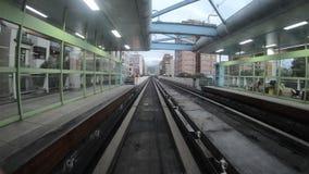 4K Hyperlapse sztachetowy transport wynosił pociąg, podróż na nowożytnym metrze Taipei zbiory