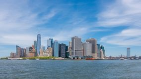 4k hyperlapse video van Lower Manhattanhorizon stock videobeelden