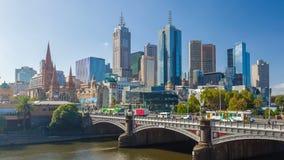 4k hyperlapse wideo w centrum Melbourne zbiory