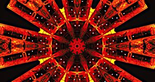VJ Loops 1 - PepN Stock Footage - 4K Hypnotic kaleidoscope stage visual loop for concert, night club, music video, events, fashion stock footage