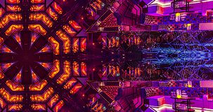 VJ Loops 3 - PepN Stock Footage - 4K Hypnotic kaleidoscope stage visual loop for concert, night club, music video, events, fashion stock video footage