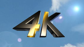 4K icon back clouds stock video footage