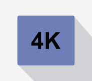 4k icon illustrated. On a white background Stock Photos