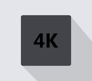 4k icon illustrated. On a white background Royalty Free Stock Photography
