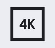 4k icon illustrated. On a white background Royalty Free Stock Images