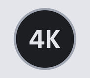 4k icon illustrated. On a white background Stock Photo
