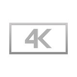 4k icon, vector illustration. Modern video resolution stock illustration