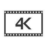 4k icono, ejemplo del vector Imagen de archivo libre de regalías
