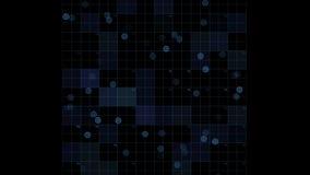 4k il circuito quadrato virtuale, le linee di tecnologia di scienza, matrice punteggia il fondo di esame archivi video
