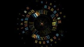 4k il numero romano, raggi star la luce, il fondo dei fuochi d'artificio delle particelle di energia, tempo di tecnologia video d archivio