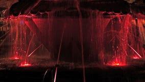 4K with illuminated fountain 1 stock footage