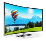 4K incurvé moderne UltraHD TV Photographie stock libre de droits