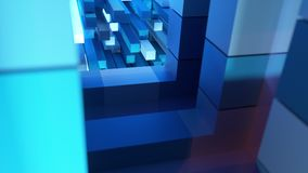 4K Inside view of an advanced AI CPU. Seamless loop stock footage