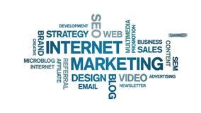 4k Internet Marketing Animated Tag Word Cloud,Text Design Animation.