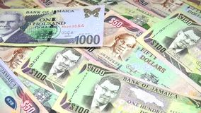 4k Jamaica currency - Banking and economic stability concept