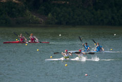 K2 Jun Men 1000m A finale Fotografie Stock