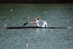 K1 Jun Men 1000m sista A Arkivfoto
