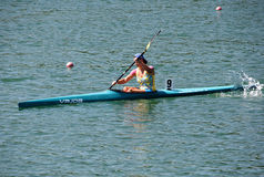 K1 Jun Women 1000m sista A Arkivfoton