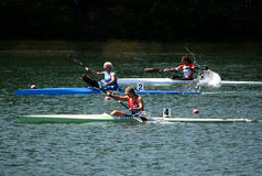 K1 Jun Women 500m sista A Royaltyfri Foto