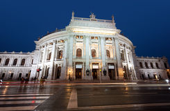 K.K. Hofburgtheater at night in Vienna Royalty Free Stock Images