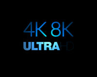4K and 8K Ultra HD text Royalty Free Stock Photography