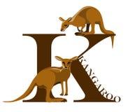 K (kangaroo) stock illustration