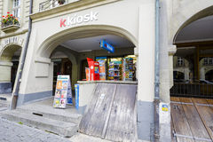 K Kiosk in Bern. BERN, SWITZERLAND - SEPTEMBER 06, 2015: K Kiosk, a network of retail sales, thanks to a large sales network and locations in heavily used areas royalty free stock photo