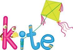 K for kite Royalty Free Stock Photos