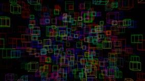 4k kretsade animeringen 3d med en skiftande fokus därefter fram och tillbaka, djup av fältet, bokeheffekter Abstrakt sammansättni stock illustrationer