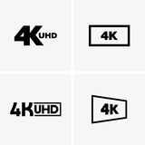 4k labels. Available in high-resolution and several sizes to fit the needs of your project Stock Illustration