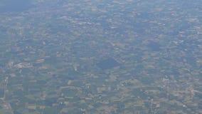 4K latanie Nad kraj W samolocie, Samolotowy Porthole pasażer Pov zdjęcie wideo