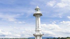 4k latarnia morska na Lac Leman w Genewa, Szwajcaria zdjęcie wideo