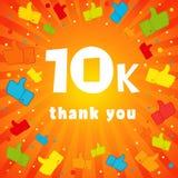 10k le agradecen bandera Fotos de archivo libres de regalías