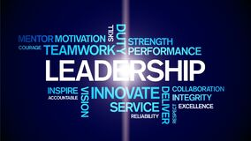 4k Leadership Animated Tag Word Cloud,Text Design Animation Typography.