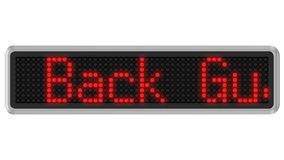 4K - Led dot display with 30-Day Money Back Guarantee text message stock video