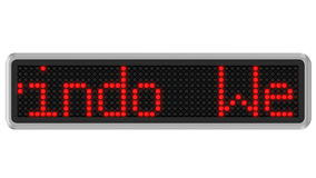 4K - Led dot display with welcome text message stock video footage