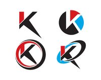 K letter logo collection. Is a symbol related to business and technology Royalty Free Stock Photography