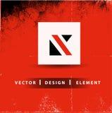 K Letter  Modern Logo Design Business Concept. K Letter Modern Logo Design Business Grunge Concept Vector isolated on red background Stock Images